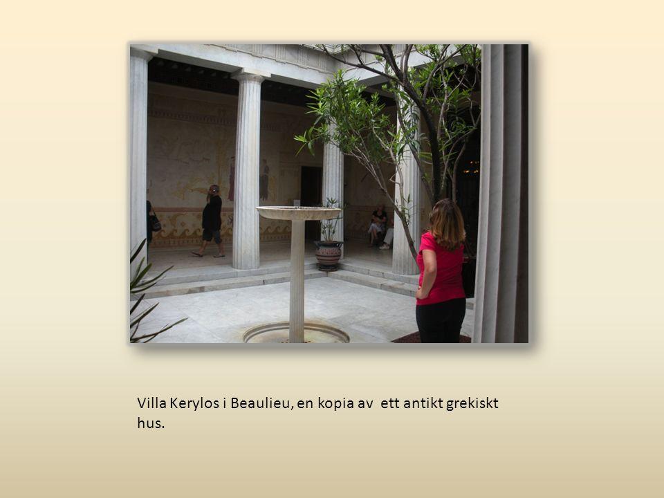 Villa Kerylos i Beaulieu, en kopia av ett antikt grekiskt hus.