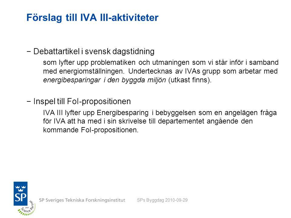 Förslag till IVA III-aktiviteter −Debattartikel i svensk dagstidning som lyfter upp problematiken och utmaningen som vi står inför i samband med energiomställningen.