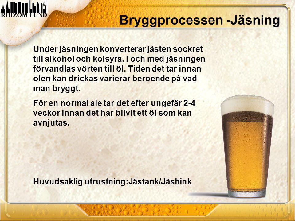 Under jäsningen konverterar jästen sockret till alkohol och kolsyra. I och med jäsningen förvandlas vörten till öl. Tiden det tar innan ölen kan drick