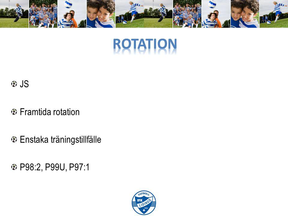 JS Framtida rotation Enstaka träningstillfälle P98:2, P99U, P97:1