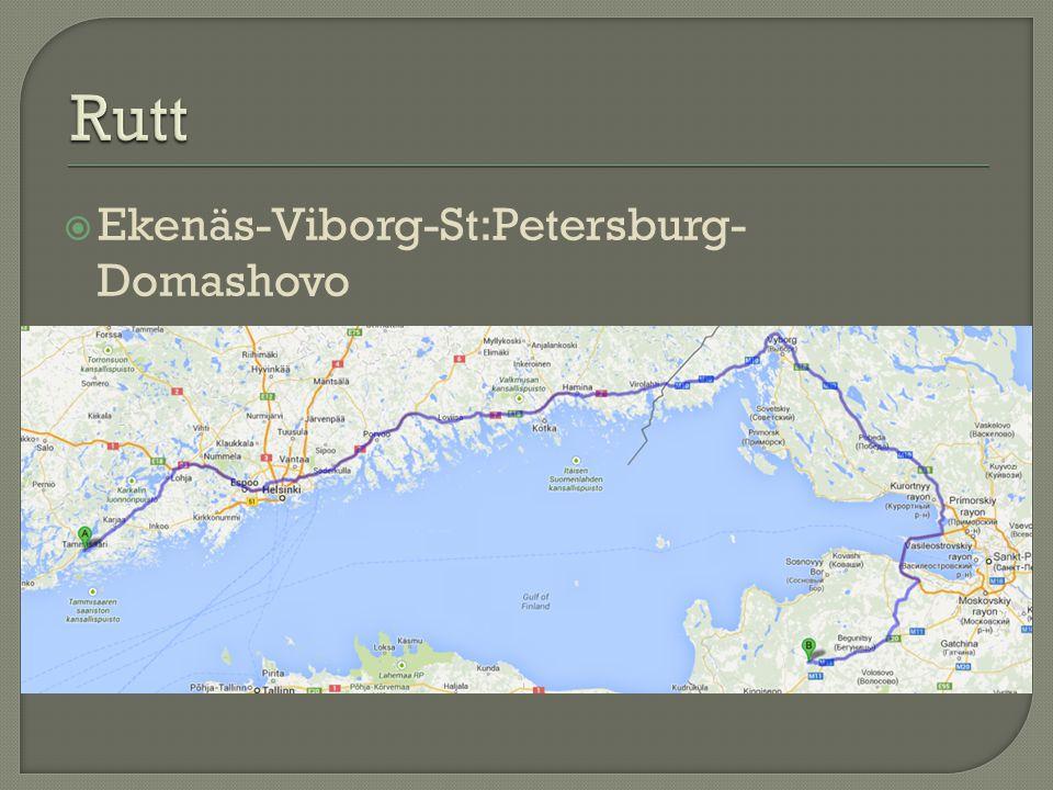  Ekenäs-Viborg-St:Petersburg- Domashovo