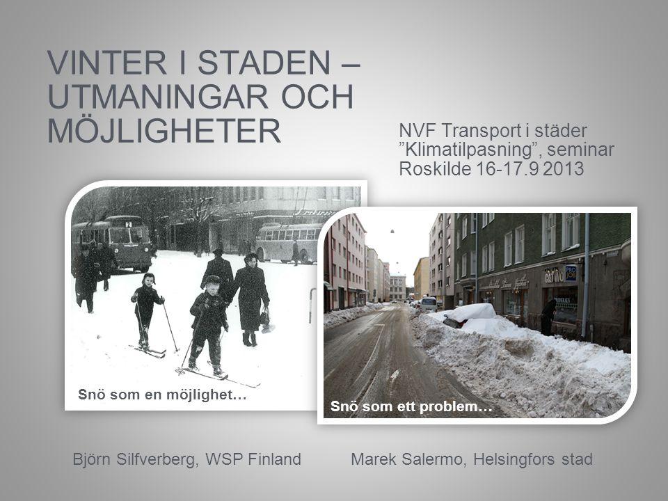 Snö som en möjlighet Vad är det som är bra med vintern och hur kan vi i vår stad glädjas åt det ?