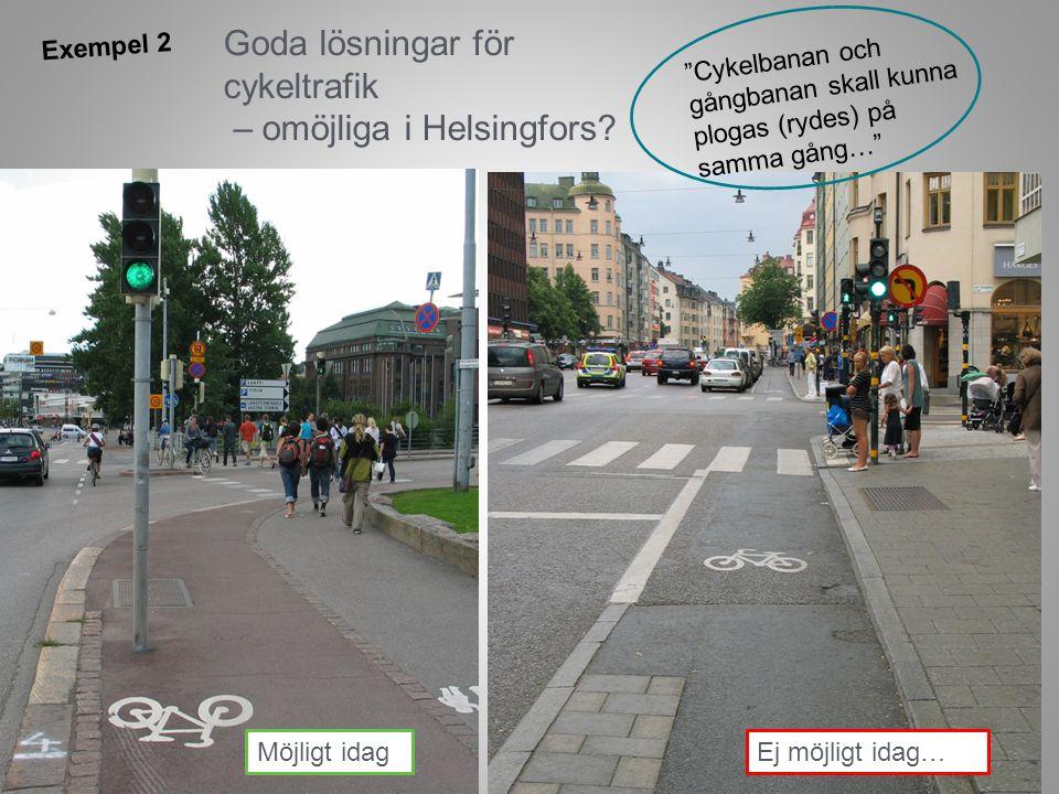 Goda lösningar för cykeltrafik – omöjliga i Helsingfors.