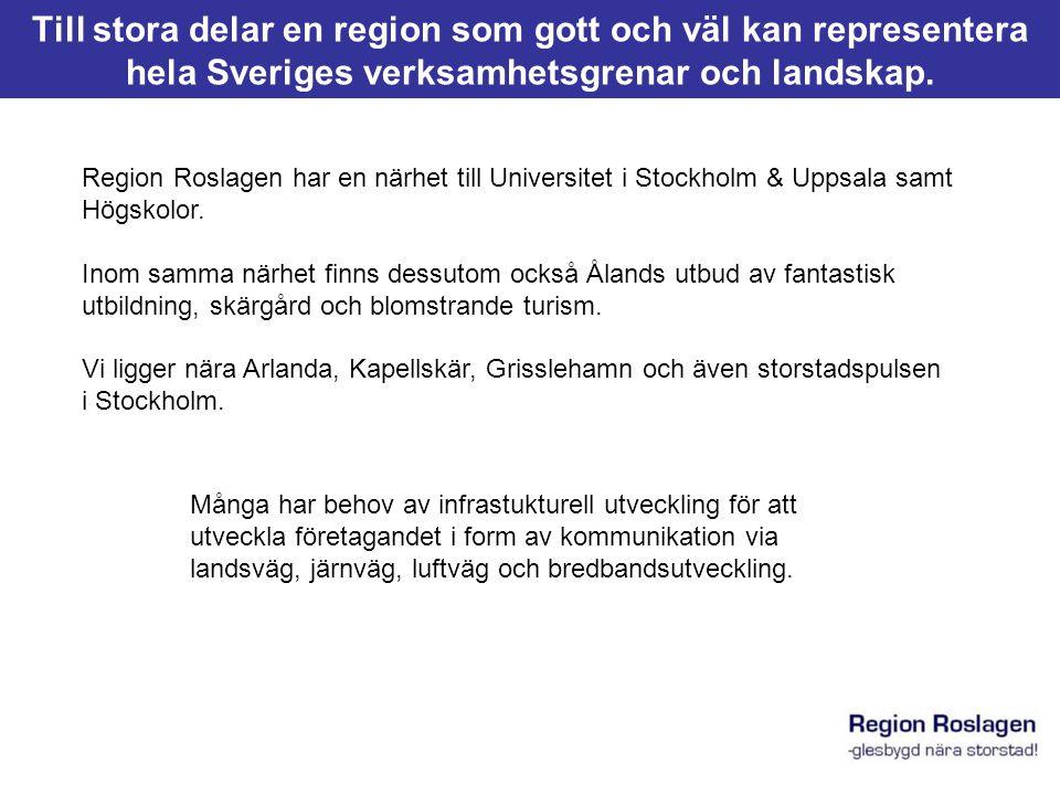 Till stora delar en region som gott och väl kan representera hela Sveriges verksamhetsgrenar och landskap.