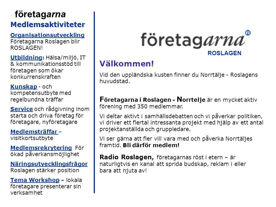 Välkommen. Vid den uppländska kusten finner du Norrtälje - Roslagens huvudstad.