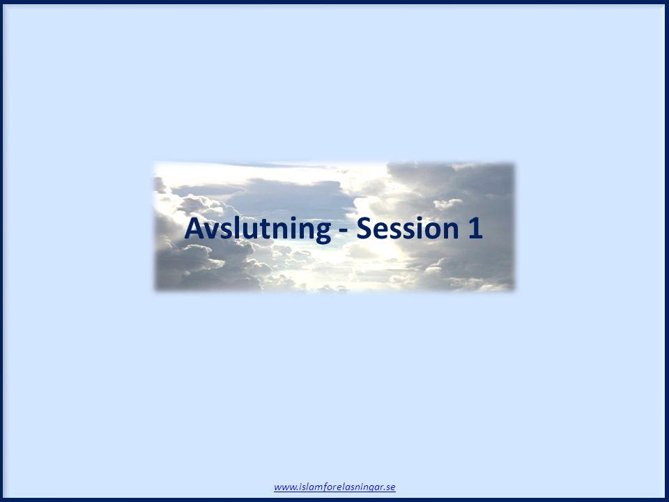 Avslutning - Session 1