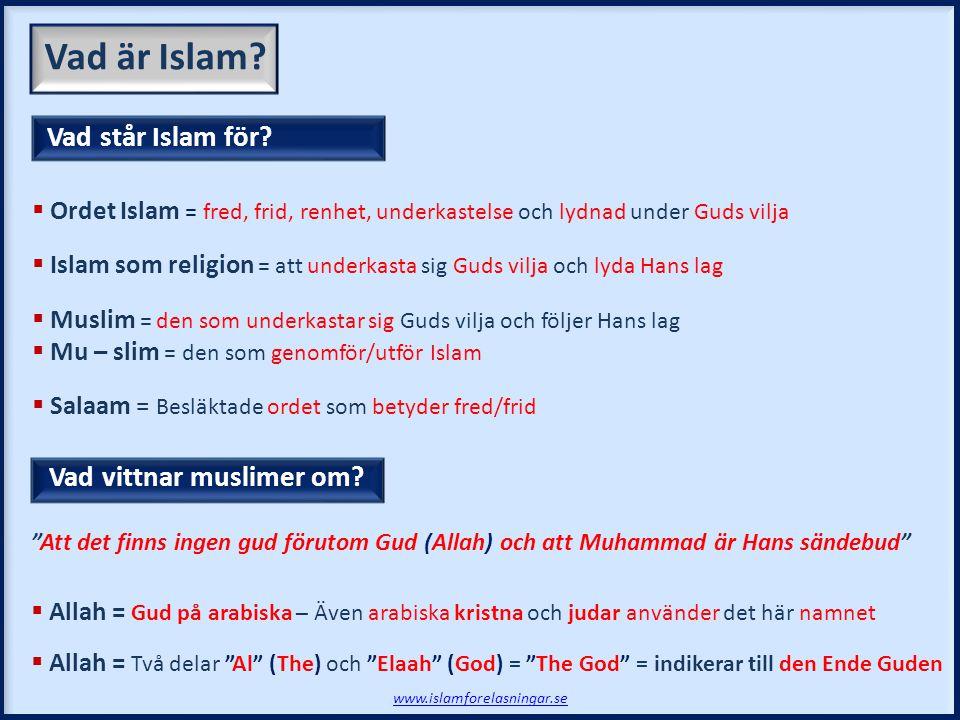 Att det finns ingen gud förutom Gud (Allah)…  Tawhid består av tre kategorier: 1.