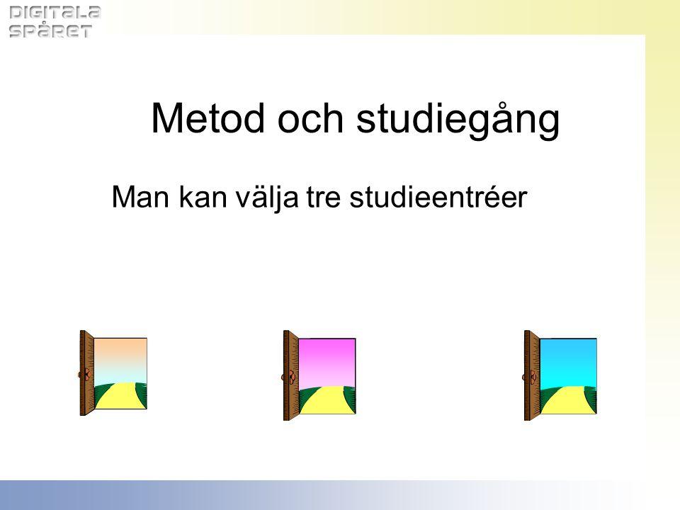 Metod och studiegång Man kan välja tre studieentréer
