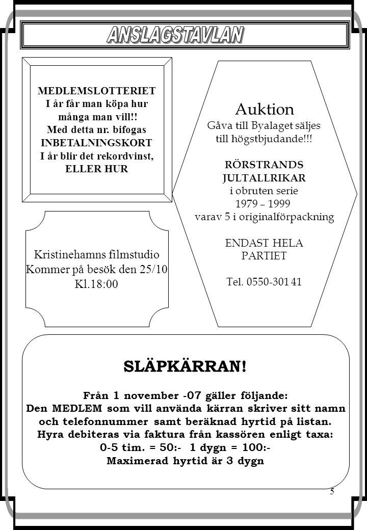 6 Lördag den 10 november kl.16:00 kommer vi att kunna prova på linedance i Bygdegården.