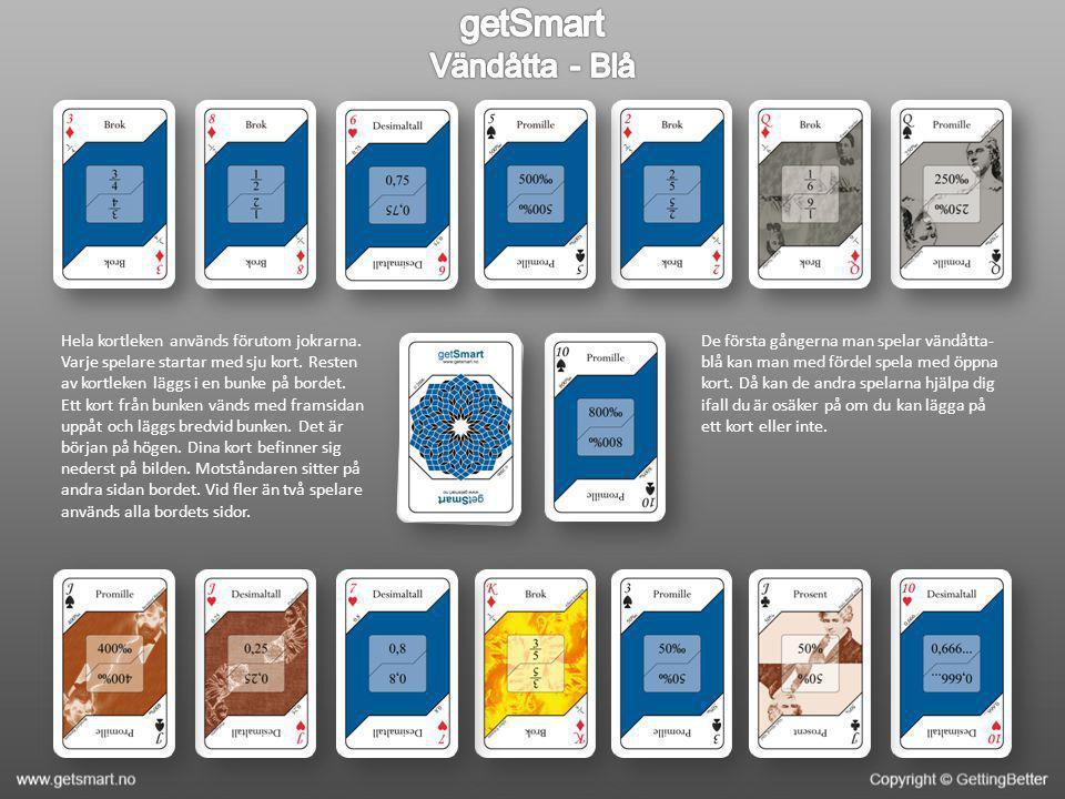 Hela kortleken används förutom jokrarna. Varje spelare startar med sju kort. Resten av kortleken läggs i en bunke på bordet. Ett kort från bunken vänd