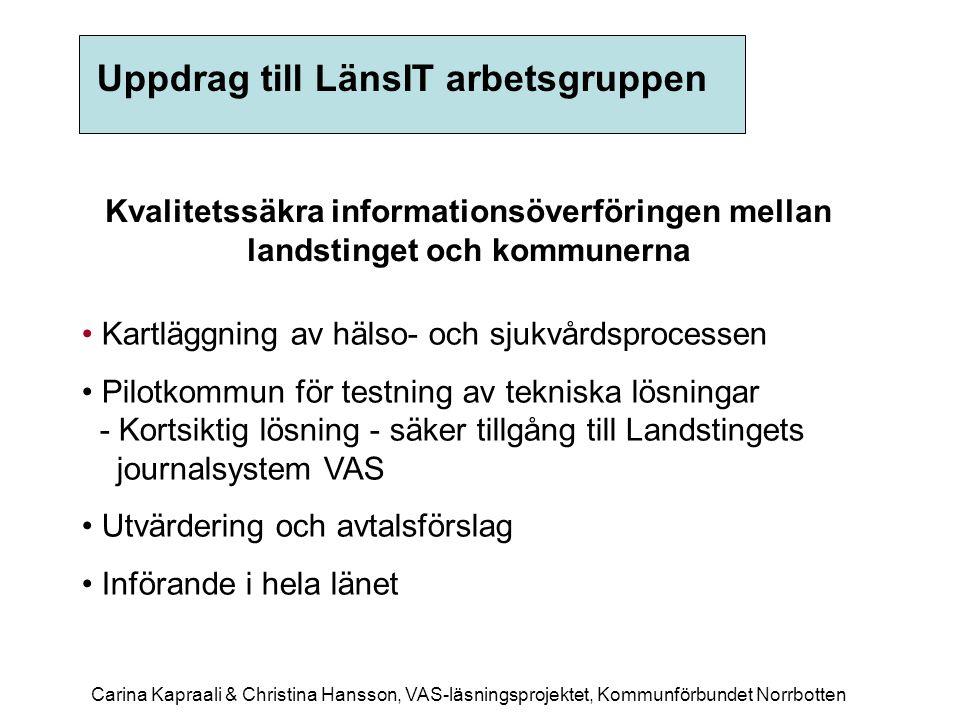 Kommunens åtaganden •Vara behjälplig till Landstinget med nödvändig information.