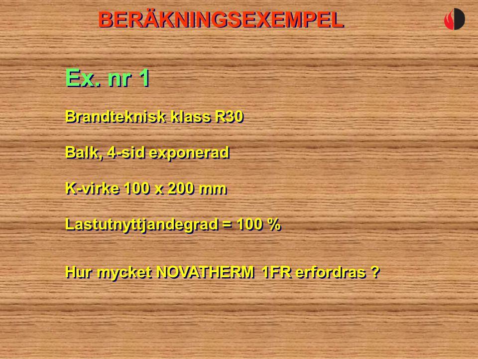BERÄKNINGSEXEMPEL Balk, 4-sid exponerad Ex.