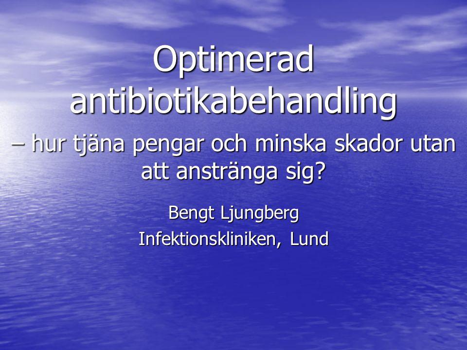Optimerad antibiotikabehandling – hur tjäna pengar och minska skador utan att anstränga sig.