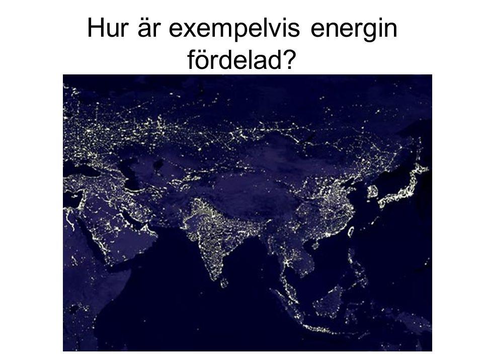 Hur är exempelvis energin fördelad?