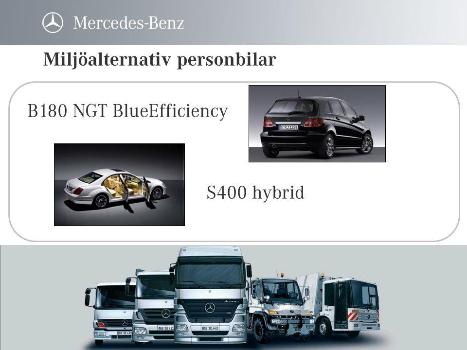 B180 NGT BlueEfficiency De 5 gastankarna är placerade mellan bilens två golv och påverkar inte passagerarutrymmet