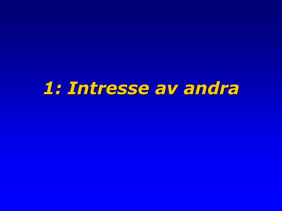 1: Intresse av andra