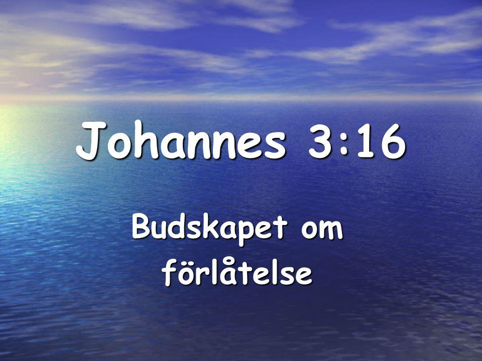 Johannes 3:16 Budskapet om förlåtelse
