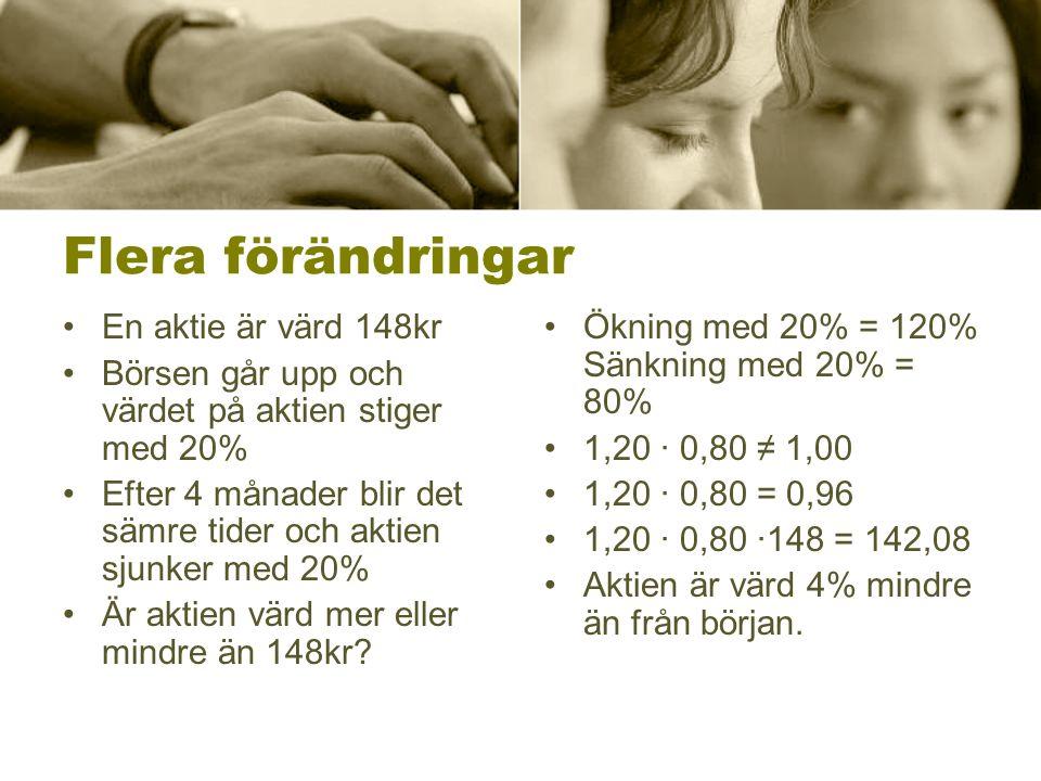 Moms •I Sverige är momsen 25%.•Hur gör man om man vill beräkna priset utan moms.