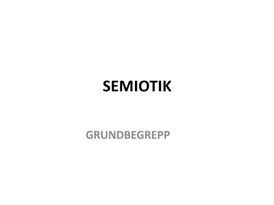 SEMIOTIK GRUNDBEGREPP