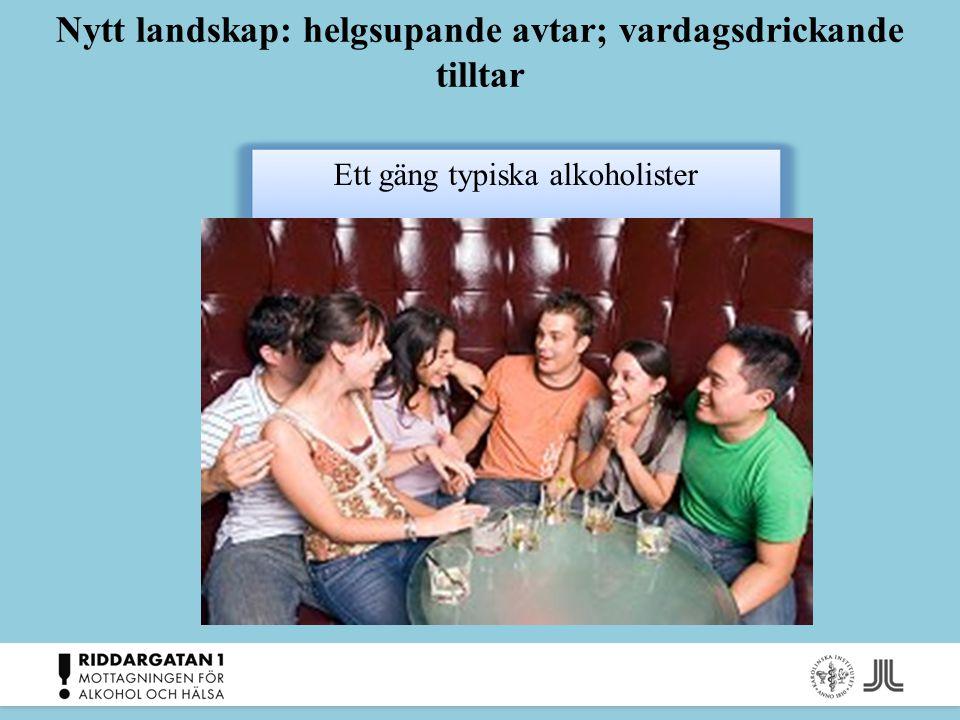 Synen på alkoholproblem och vård Accepterar inte vårdens begrepp och etiketter Sjukvården Många anser att läkarmottagningar, vårdcentraler och företagshälsovården är instanser som kan utnyttjas bättre Kan inte identifiera sig med utslagna missbrukare Stigma : Stigma : Problem med alkohol är mycket stigmatiserade.