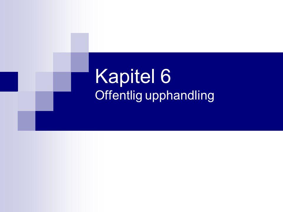 Kapitel 6 Offentlig upphandling