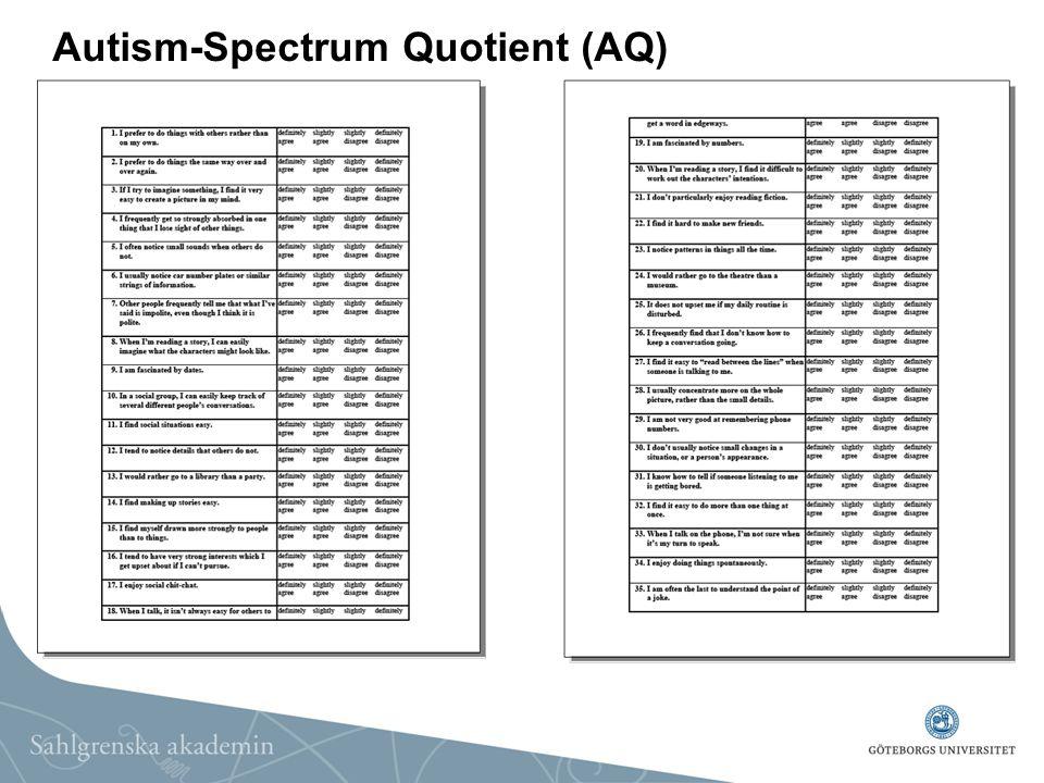 Autism-Spectrum Quotient (AQ)