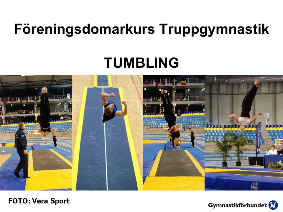 Föreningsdomarkurs Truppgymnastik TUMBLING FOTO: Vera Sport