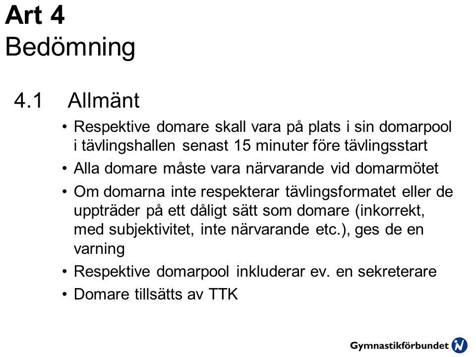 Art 16.4 Tumbling - Komposition 2.0 16.4.1.1 Minst tre (3) olika ö vningar 0.2/ ö vning/gymnast 16.4.1.2 Tidtagning 0.3  Tidsgr ä nsen ä r 2.45.