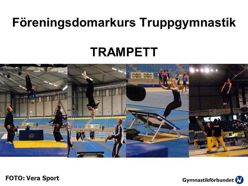 Föreningsdomarkurs Truppgymnastik TRAMPETT FOTO: Vera Sport