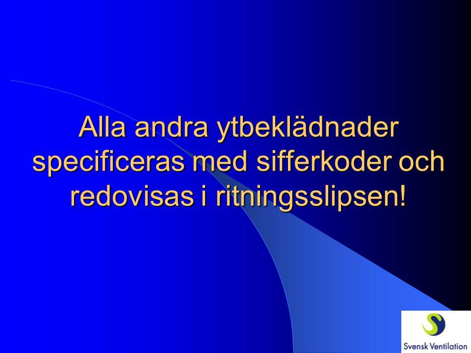 YTBEKLÄDNADER AMA-kodStd-kod RCF.11 Ytbekl. av plan metalliserad stålplåt på isol. vent.kanal UtvY11 RCF.12 Ytbekl. av vågprofilerad metalliserad stål