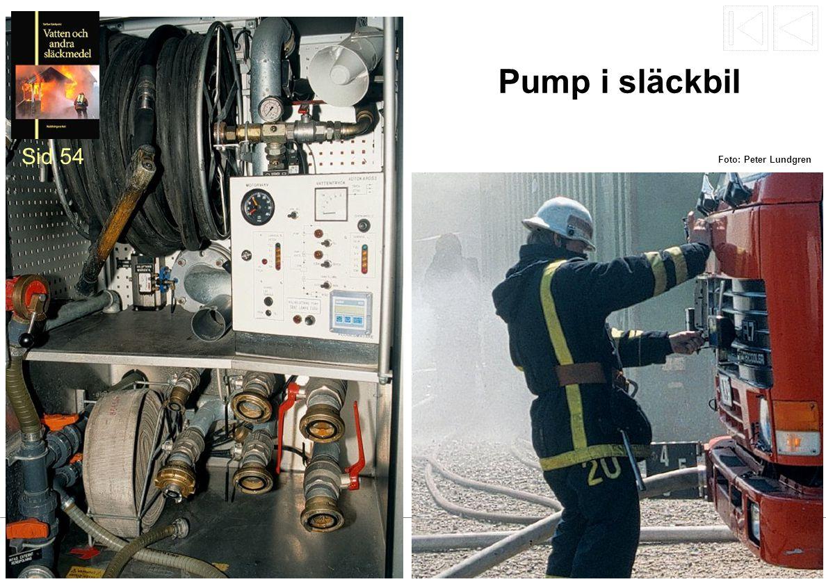 Pump i släckbil Sid 54 Foto: Peter Lundgren