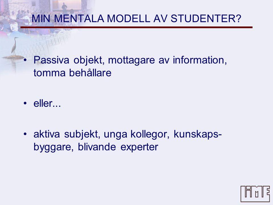 MIN MENTALA MODELL AV STUDENTER.
