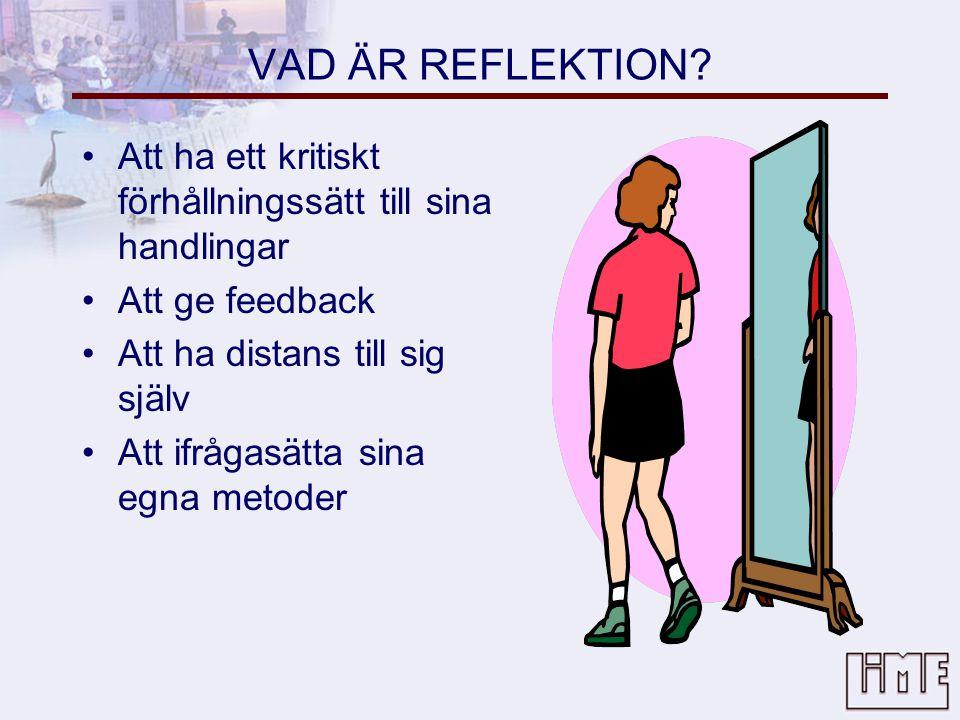 VAD ÄR REFLEKTION.