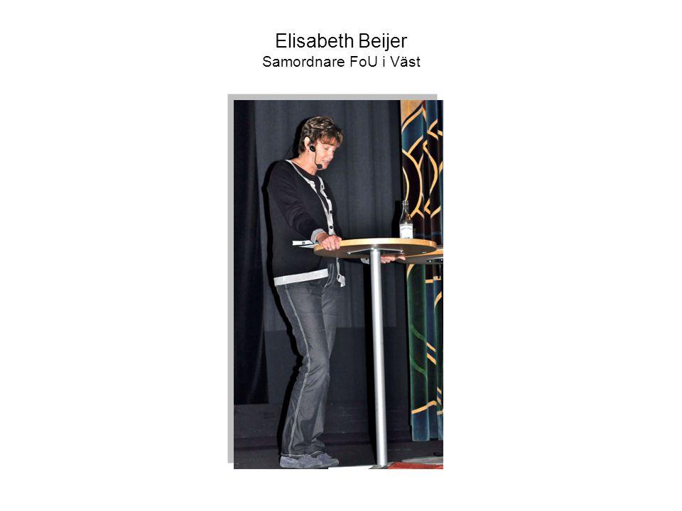 Elisabeth Beijer Samordnare FoU i Väst