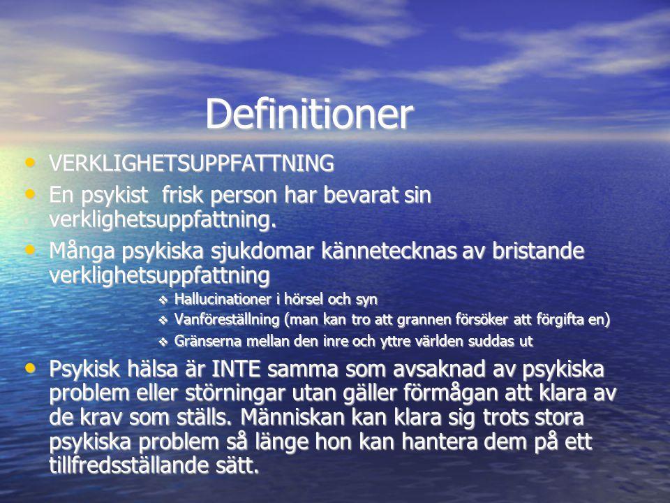 Definitioner • Normativa kriser: det är helt naturligt att efter att ha förlorat någon, blivit arbetslös eller genomgått en skilsmässa att känna sig ledsen, deprimerad, ha ångest, vara rädd, känna stress.