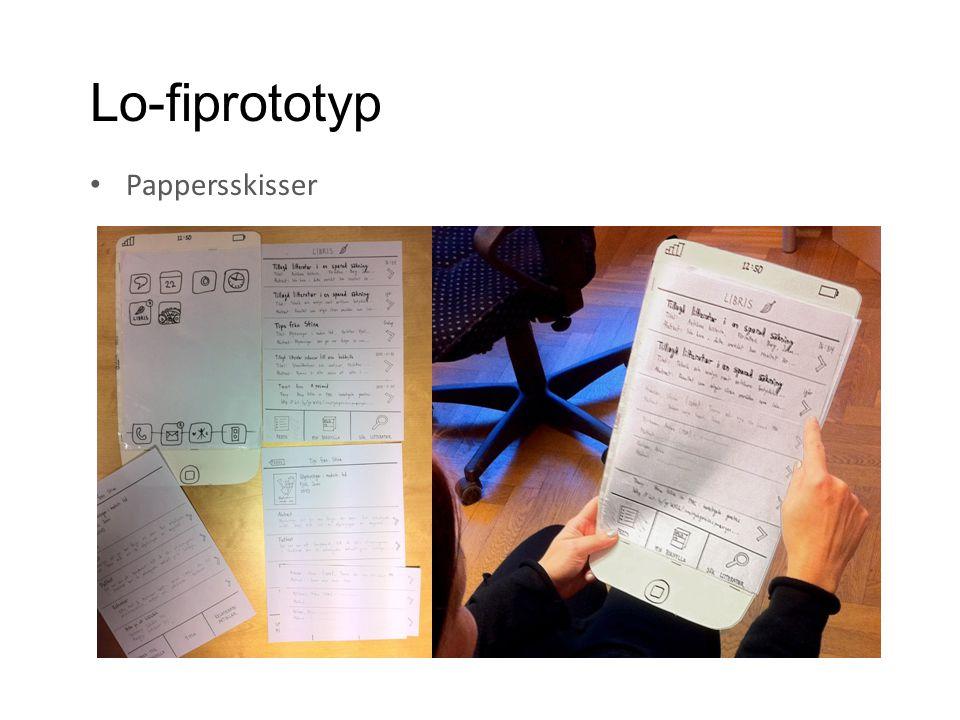 Lo-fiprototyp • Pappersskisser