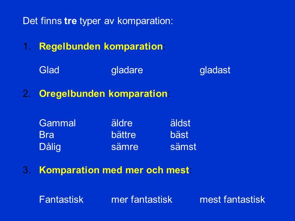 ADJEKTIV Talar om och beskriver ett substantiv.