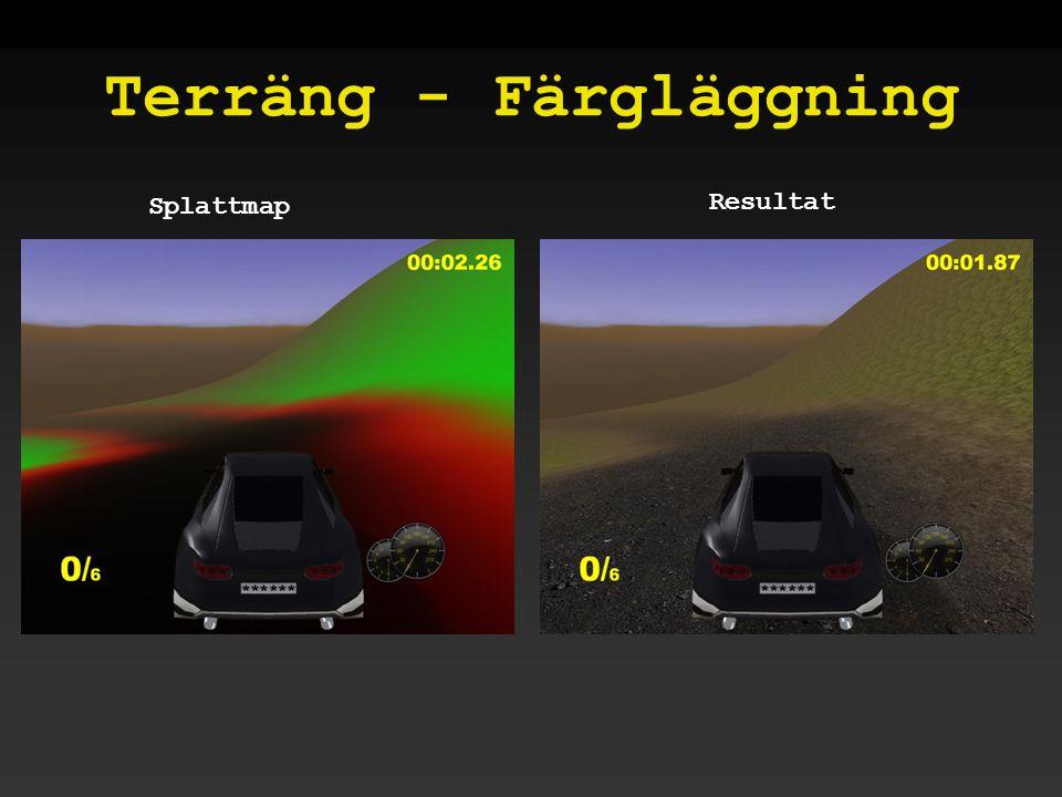 Terräng - Färgläggning Splattmap Resultat