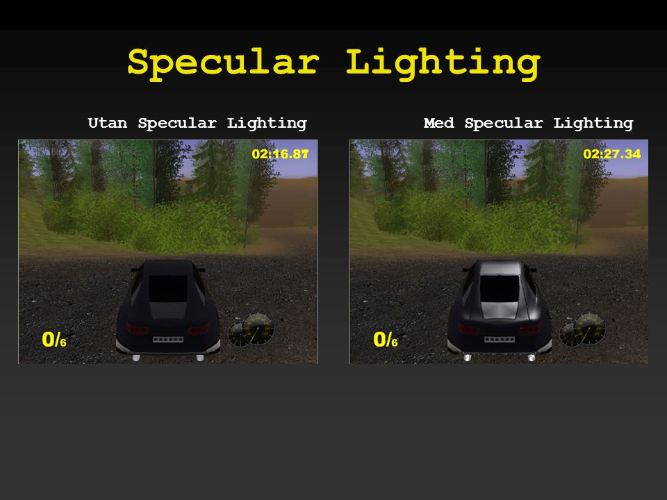 Specular Lighting Utan Specular LightingMed Specular Lighting