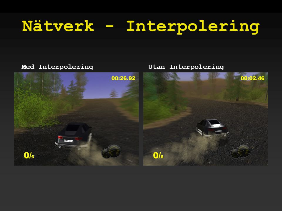 Nätverk - Interpolering Utan InterpoleringMed Interpolering