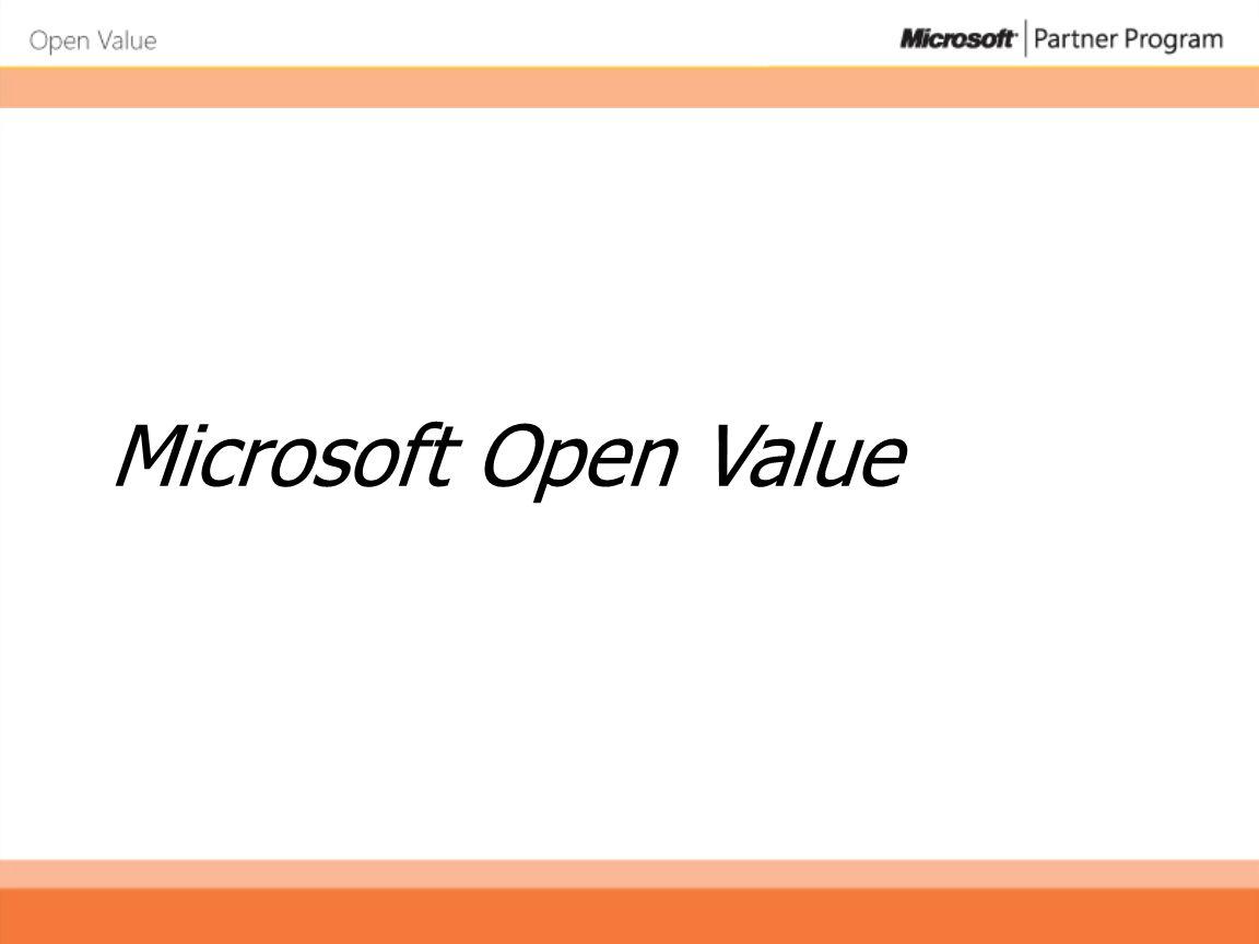 Microsoft Open Value