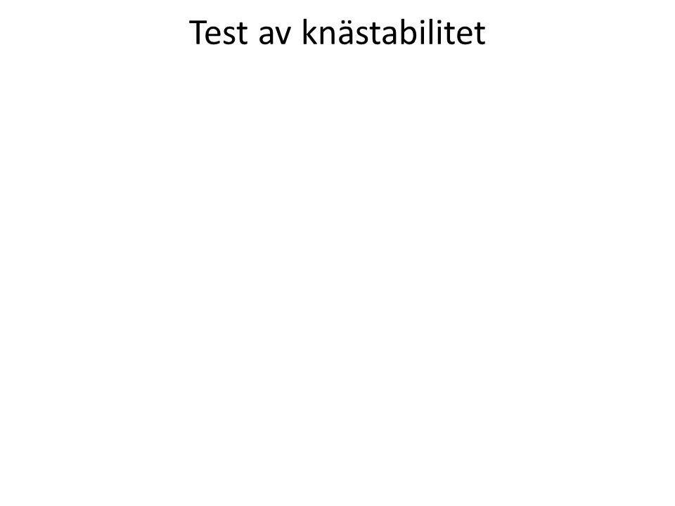 Test av knästabilitet
