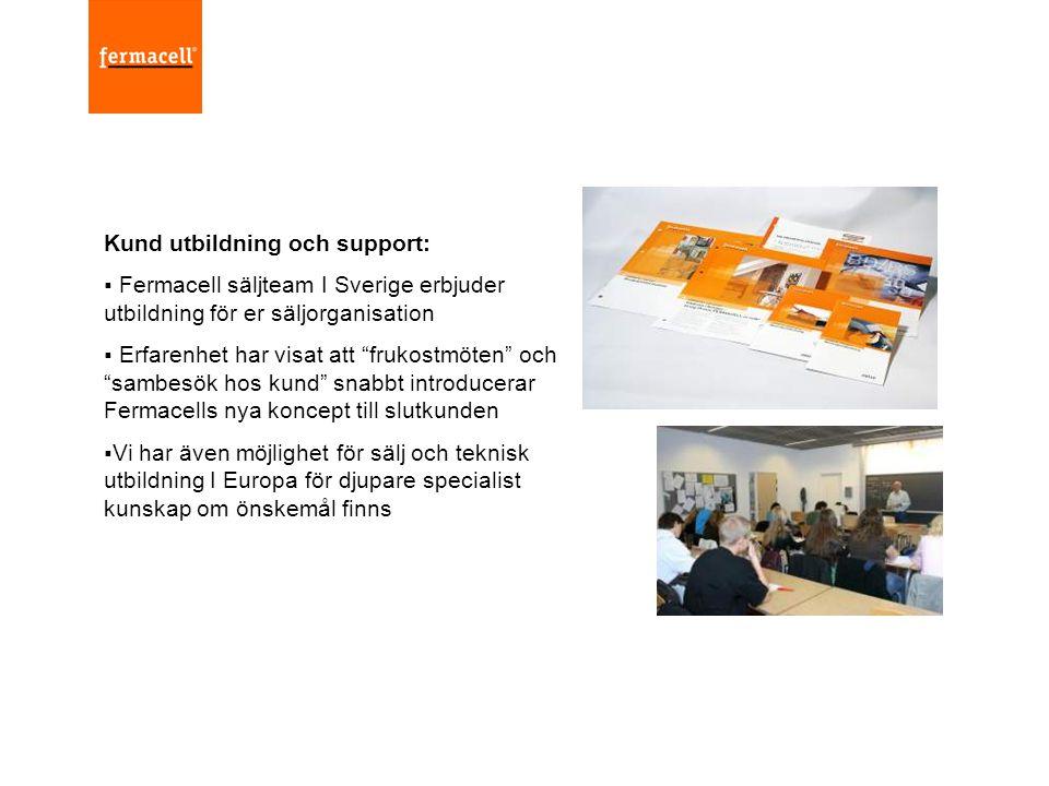 """Kund utbildning och support:  Fermacell säljteam I Sverige erbjuder utbildning för er säljorganisation  Erfarenhet har visat att """"frukostmöten"""" och"""