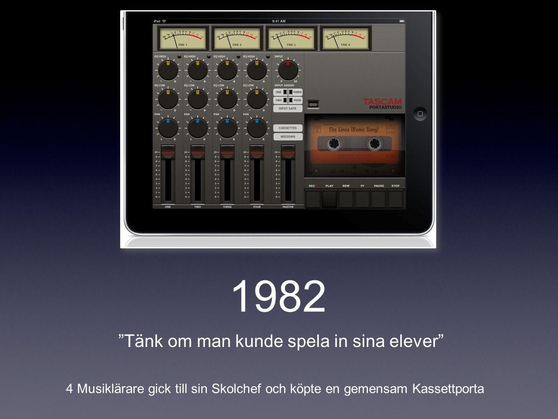 1982 Tänk om man kunde spela in sina elever 4 Musiklärare gick till sin Skolchef och köpte en gemensam Kassettporta
