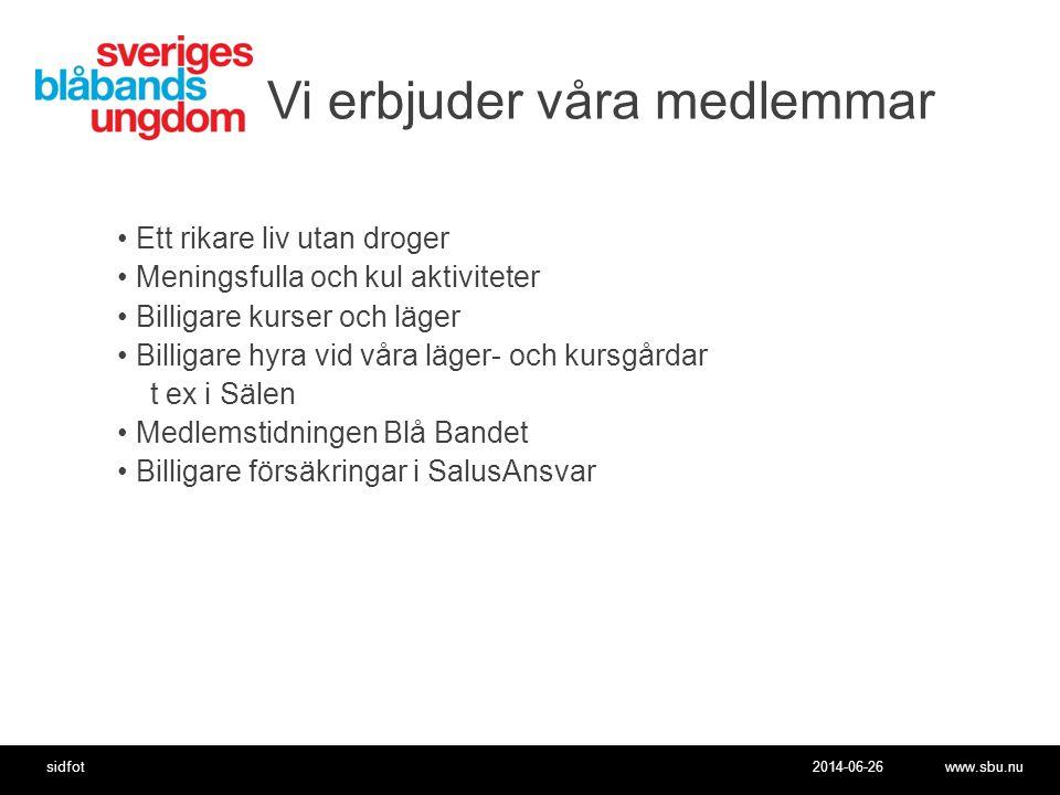 2014-06-26www.sbu.nusidfot Förbundets anställda •Kansli i Örebro •Anställd verksamhetsledare 75% Niclas Lidström.