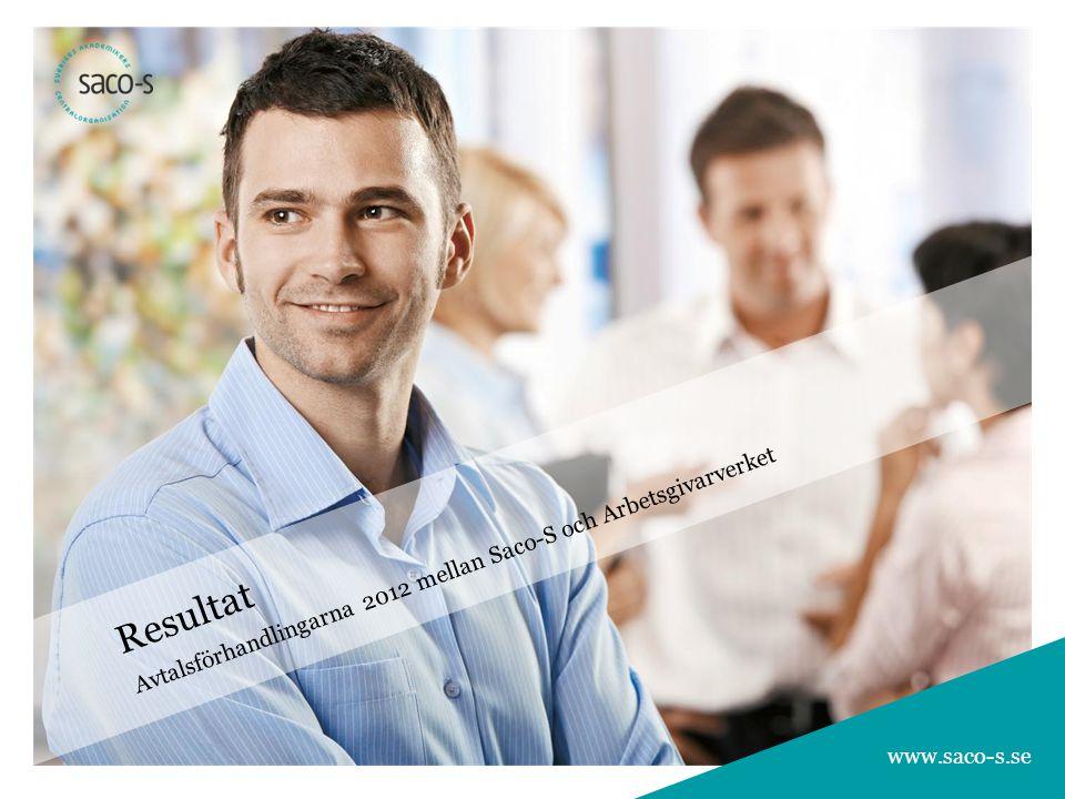 www.saco-s.se Resultat Avtalsförhandlingarna 2012 mellan Saco-S och Arbetsgivarverket www.saco-s.se