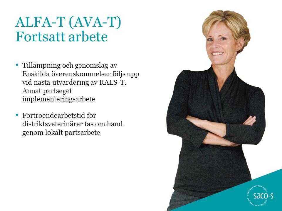 ALFA-T (AVA-T) Fortsatt arbete • Tillämpning och genomslag av Enskilda överenskommelser följs upp vid nästa utvärdering av RALS-T. Annat partseget imp