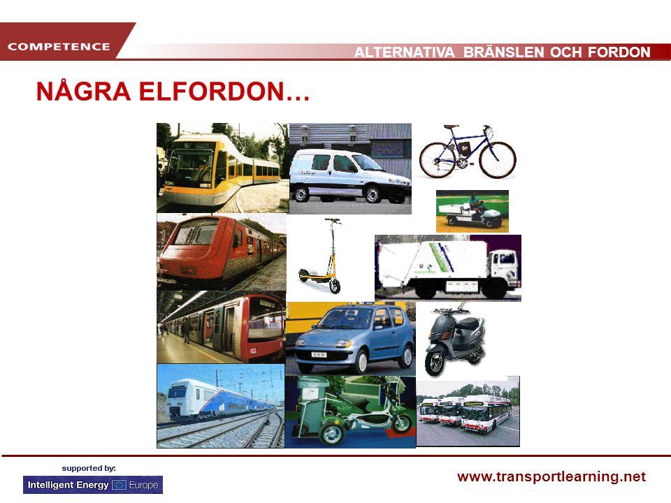 ALTERNATIVA BRÄNSLEN OCH FORDON www.transportlearning.net NÅGRA ELFORDON…