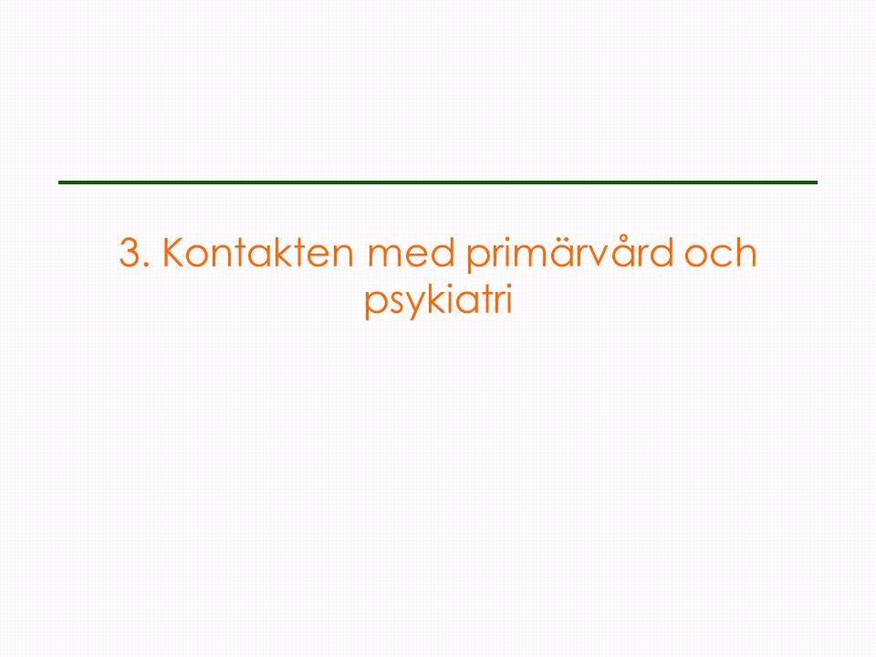 3. Kontakten med primärvård och psykiatri