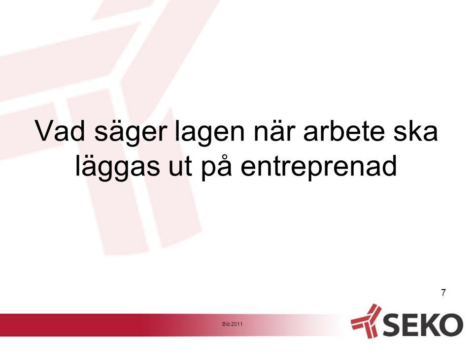 Avtal EFA angående anlitande av entreprenörer och lån av arbetstagare 12 kap.